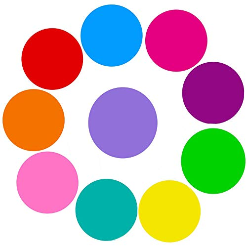 Dry Erase Circles, PinCute 10 Pieces Colorful Dry Erase Dots Circles, Dry Erase Board Marker Removable Vinyl Dot Wall Decal for School Classroom Table & Desk (11.8 inch)
