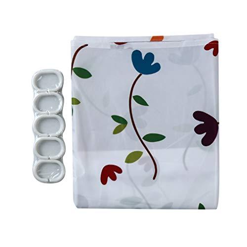 Yinew Duschvorhang Blumendruckmuster Wasserdicht Verdicken Duschvorhänge Bad Dekoration, 2#