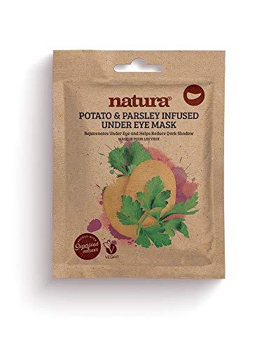 Natura POTATO & PARSLEY Infused Under Eye Mask By BeautyPro, Reduces Puffiness, Brightens Under Eye Areas, Hydrating & Nourishing Eye Masks (3 x 7ml)