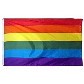 ALBATROS 3x5 Foot Gay Pride Rainbow Flag- Lesbian Gay Bisexual and Transgender Community