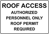注意標識-屋根へのアクセス許可された担当者のみ通知道路交通の危険屋外防水および防錆金属錫標識