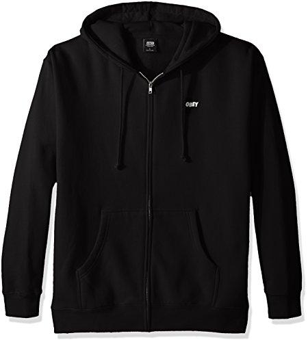 Obey Herren Jumble Lo-Fi Hooded Zip Sweatshirt, schwarz, Groß