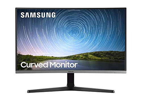 SAMSUNG Monitor Curvo 27' pulgadas, sin biseles, FHD 1920x1080, Game Mode, FreeSync, Eco Saving Plus, Flicker Free, 1x HDMI 1.4, 1x D-sub, 4ms(GTG), Dark Blue Gray (LC27R500FHLXZX)