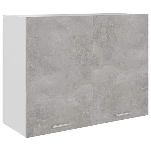 vidaXL Hängeschrank 2 Regalböden Küche Schrank Einbauküche Küchenzeile Küchenmöbel Oberschrank Küchenschrank Hochglanz-Weiß 80x31x60cm Spanplatte