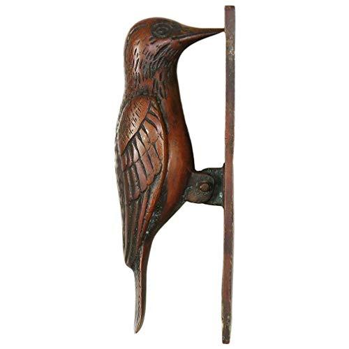 """Eyes of India - 7\"""" Oro Pájaro Latón Antigüedad Puerta Aldaba Metálica Escultura Hardware Decoración de Pared Hecho a Mano - Rojo #1"""