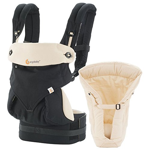 Ergobaby Four Position 360 Bundle of Joy Baby Carrier Black Camel