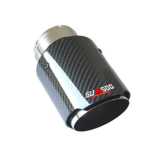 KUOZEN Rostfreier Stahl Autodekoration Car Focus Zubehör Modifizierter Schalldämpfer Universal Auto Heckauslass Auspuff Endstück Carbon Auspuff type2