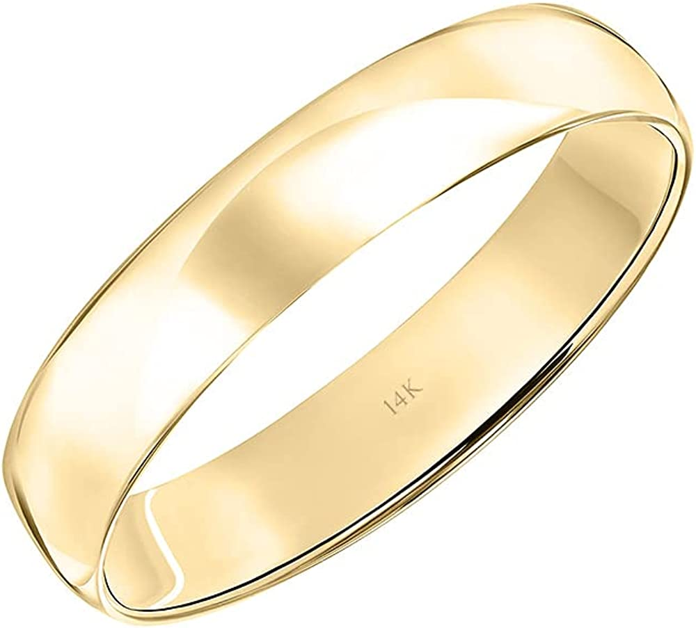Max 48% OFF Men's 10K or 14K Rose White Light Yellow 4MM Classic Pl Gold Super special price