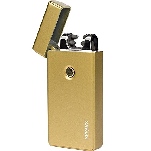 SPPARX Flameless Dual Arc Lighter, USB Rechargeable Electronic Windproof Plasma Lighter