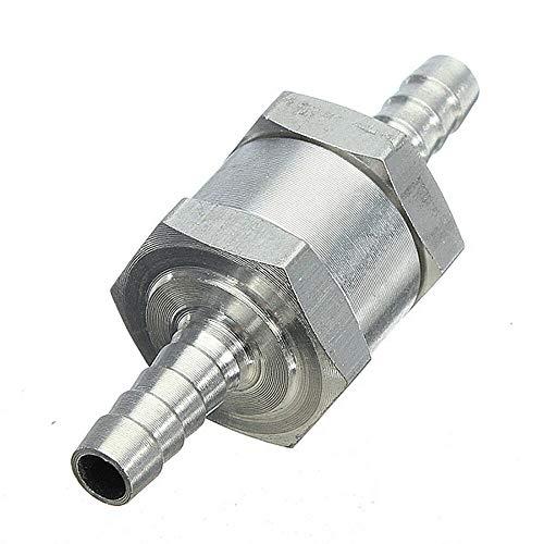 Rückschlagventil SENRISE 6-12 mm Aluminiumlegierung Rückschlagventil Rückschlagventil für Kraftstoff/Wasser/Marine (1 Stück), silber