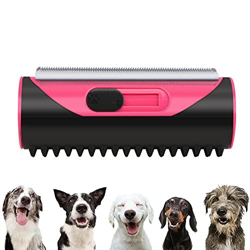 3-in-1 Unterfellbürste Hunde,Unterfell- Und Enthaarungsbürste,Hundebürste,Tierhaar-Entferner-Rolle,Haustier Bürsten,Enthaarungsbürste Pflege-Werkzeug für langes Haar lockige Haustiere