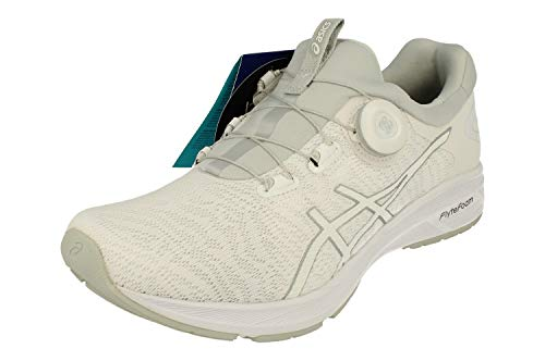 Asics Dynamis Hombre Running Trainers T7D1N Sneakers (UK 12 US 13 EU 48, White Silver Mid Grey 0193)