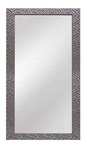 Chely Intermarket, Espejo de Pared Cuerpo Entero 35x70cm (Gris/Raya Plateado) MOD-156 | Forma Rectangular | Decoración de salón, recibidor o Dormitorio | Acabado Elegante (156-35x70-3,05)