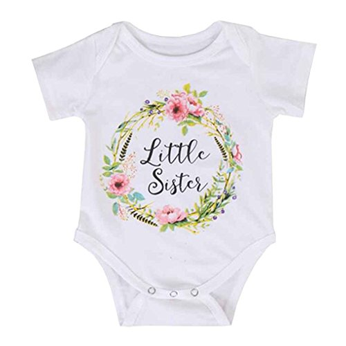 Mengonee Cotton Cute Baby Girl Big Sister Top Little Brother Sister Pagliaccetti Match Clothes Toddler Tuta floreale