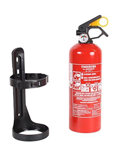EXDINGER Feuerlöscher Pulver ABC 1kg Manometer + Halterung (GP-1X Autofeuerlöscher fabrikfrisch)
