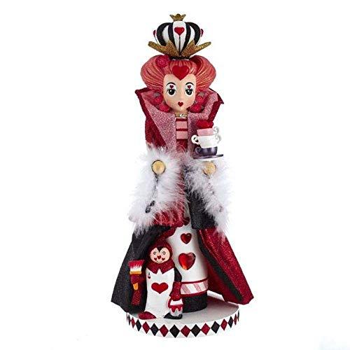 Kurt S. Adler 17.5-Inch Hollywood Queen of Hearts Nutcracker Nussknacker, Mehrfarbig