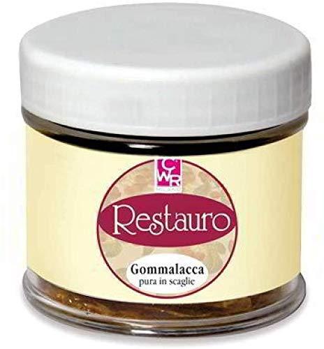 GOMMALACCA in Scaglie per Decoupage 150 ml Gomma LACCA per RESTAURO SCREPOLATURE CWR cod. 07638 per legno, mobili, strumenti musicali.