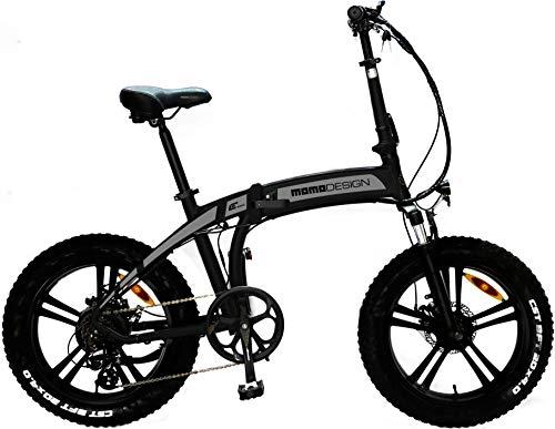 Momo MD-E20FF3-S, Bicicletta Elettrica Pieghevole Tokyo Unisex Adulto, Grigio Canna di Fucile, Unica