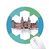 オランダの国立博物館 円形滑りゴムの雪マウスパッド