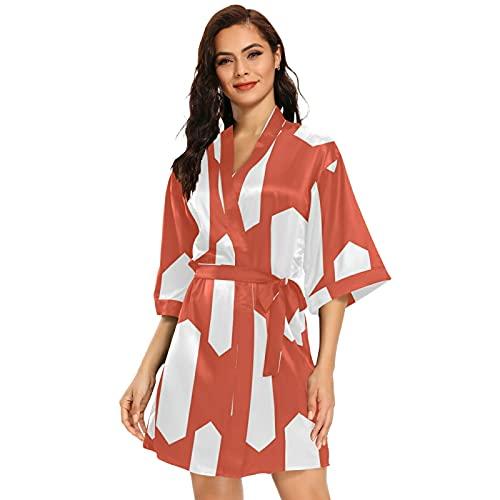 Kimono corto para mujer con la bandera de Perú, multicolor, XL
