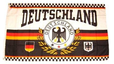 Vaandel/vlag Duitsland voetbal NIEUW 150 x 250 cm