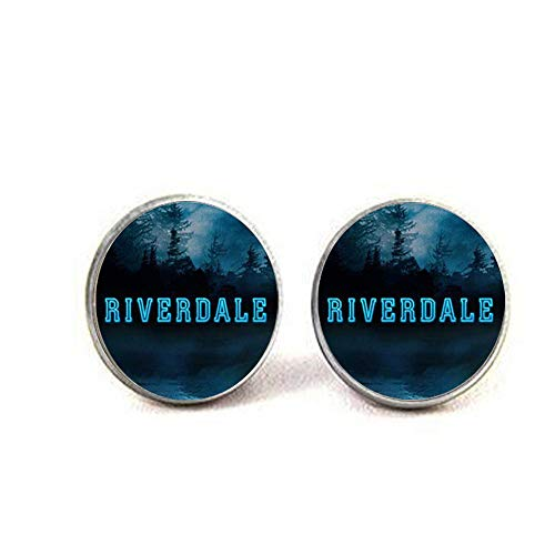American TV Riverdale Necklace Viper Pattern Glass Cabochon Charm Necklace rolder Bag Car Accessories Fans2 Earrings Literary Jewelry