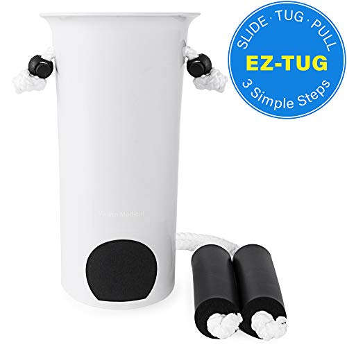 Medical Ez-Tug Sock Aid Assist with Foam Grip Handles & Length Adjustable Cords
