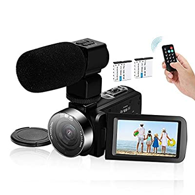 Video Camera Camcorder,Ultra HD 2.7K Vlogging Camera 30FPS 30MP 16X Digital Zoom 3.0 Inch Rotatable WiFi Camcorders with Microphone IR Night Vision&Time-Lapse by KMASHI