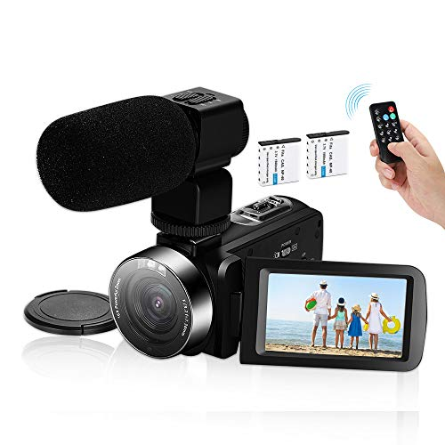 Video Camera Camcorder,Ultra HD 2.7K Vlogging Camera 30FPS 30MP 16X Digital Zoom 3.0 Inch Rotatable WiFi Camcorders with Microphone IR Night...