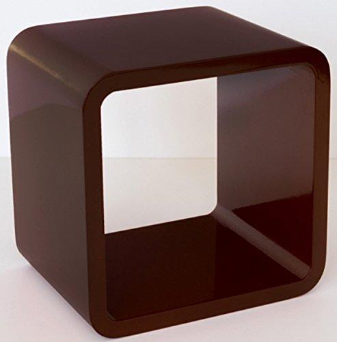 PEGANE Étagère Cube Murale Brun foncé