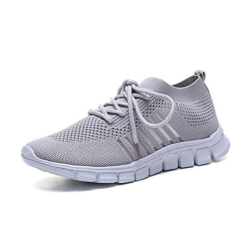 Running Shoes with Air Padding,Zapatos Deportivos de Gran tamaño para Mujer, Zapatos de Senderismo al Aire Libre Salvajes-Gris_42,Zapatos Deportivos para Correr