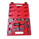 CHENJIAO Juego Herramientas Freno 12 Unids/Set Auto Universal Precision Disc Freno Pinking Brake Piston Compressor Tool Kit para Herramientas Reparación De Garaje Automático (Color : Red)