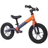 VARY Bicicleta sin Pedales para niños y niñas 3-6 años   Bici con Ruedas de 12' Edición Sport con sillín y manubrio Regulable,Naranja