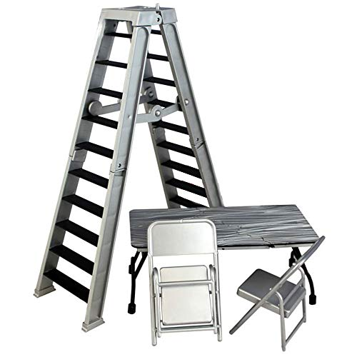 Ringside WWE Ultimate Table, Ladder & chairs Playset WRESTLING ACTION FIGURE ACCESSORY PACK (Silver)