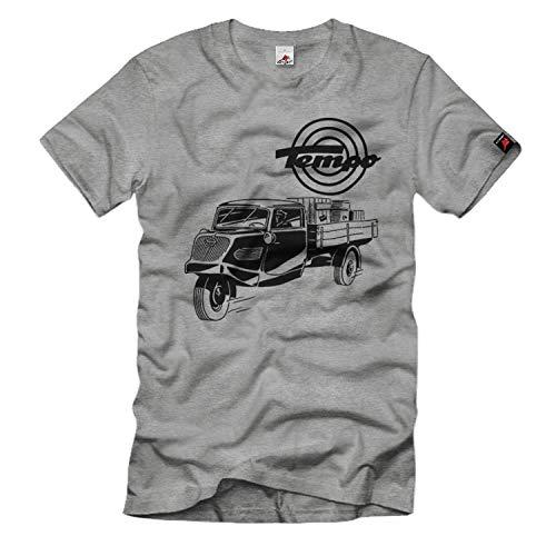 Tempo Dreirad Hanseat Oldtimer Lieferwagen Fan Vidal T-Shirt#33181, Größe:M, Farbe:Grau