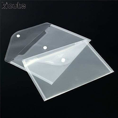 DyNamic 12 Stücke Transparentem Kunststoff Papier Lagerung Dokument Brieftaschen Dateiordner Archivierung Papier Lagerung