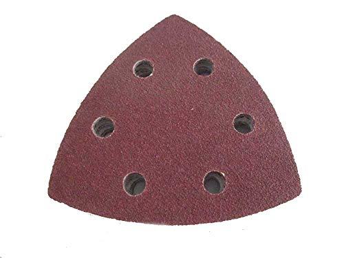 Dreieckschleifpapier, Deltaschleifer, 90x90x90 mm, 40 Stück, Körnung 120