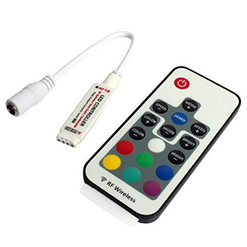 Mobestech Mini Draadloze Led Strip Controller Kleurrijke Rgb Licht Afstandsbediening Voor Feest Banket Lamp (Wit)