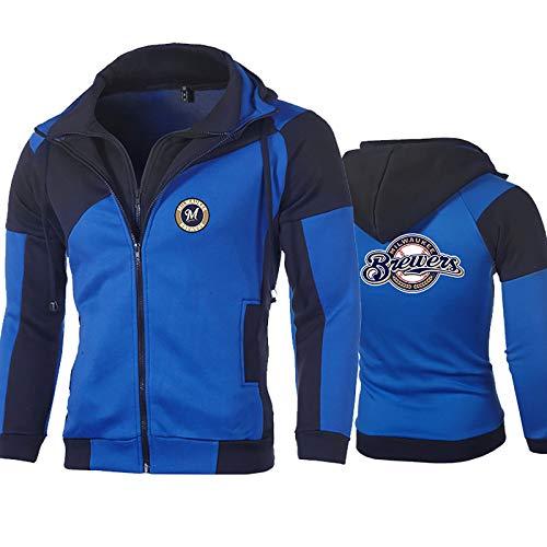 GMRZ MLB Mit Logo Hoodie, Pullover Sweatshirt Baseball Team Uniform Fans Trikots Männer Und Frauen,D,XL