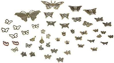 40pc Butterfly Charms, Pendants, Antique Bronze