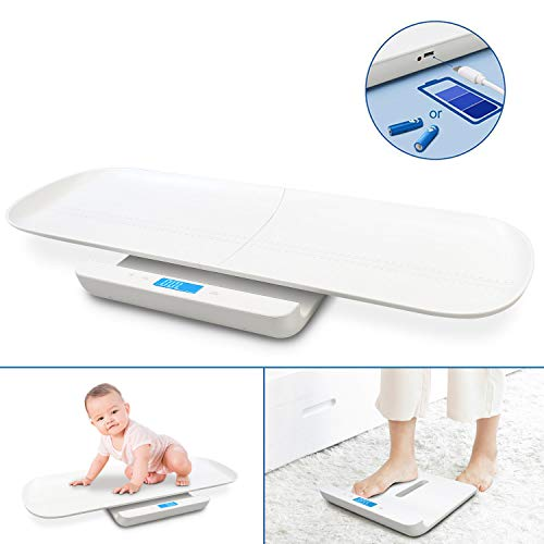 Sotech Baby Weight Scale USB Charging MultiFunction Digital Scale Scales for Body Weight Pet Scale Infant Scale Toddler Scale with Tape Measure amp Battery Max 220lbs