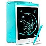 Richgv Tablette d'écriture LCD 8.5 Pouces avec Stylo, Tablette Dessin Portable Numérique Ewriter et Le Dessin sans Papier, Jeu pour Enfant(Bleu)