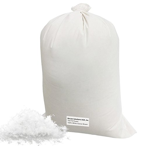 Make Your Own Pillow - 100% Down 700 Fill Power Hungarian White Goose Down Stuffing - 1/4 lb