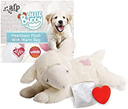 ALL FOR PAWS Snuggle Sheep Pet Behavioral Aid Toy Dog Puppy Heart Beat Warm Plush Toy (Heartbeat + WarmBag)