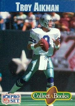 Troy Aikman Football Card  Dallas Cowboys  1990 Pro Set CollectABooks