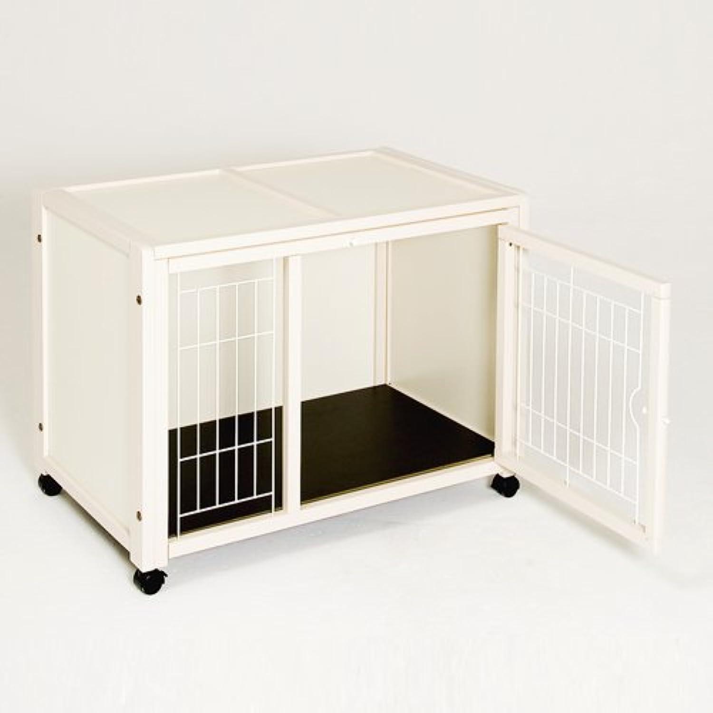 キンタロー キーヌス ペット用 犬用ケージ ゲージ 「ペットケージ ハウス AS88」(ホワイト)