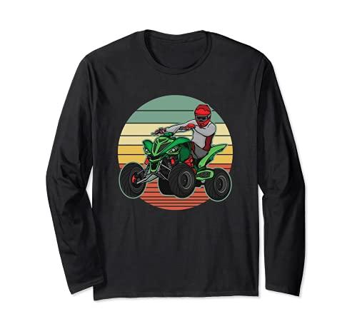ATV 4 ruedas Quad Racing todo terreno Retro Vintage Sunset Manga Larga