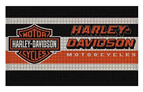 Harley-Davidson 41EM4900 - Zerbino con logo a barra e scudo, 76,2 x 45,7 cm
