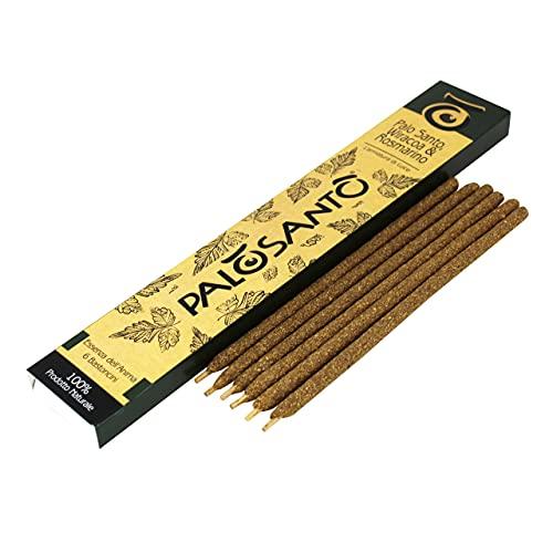 Varillas de incienso natural Palo santo con Romero y Wiracoa – Varillas de incienso perfumadas –...