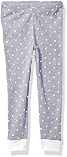 Image of Gray and White Polka Dot Pajama Pants for Girls - See More Colors